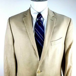 Calvin Klein 40R  2 Button Linen Cream Blazer